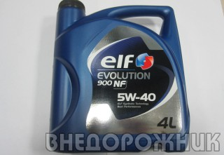 Масло моторное ELF EXCELLIUM/EVOLUTION NF  5W40 (синт.) 4л.